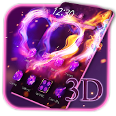 Neon Magic Fire Heart Launcher Android APK Download Free By Wallpaper Launcher 2018