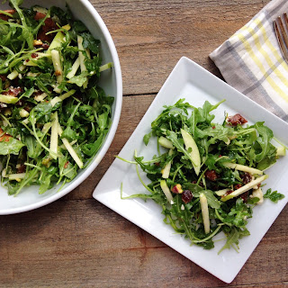 Arugula Salad with Apricots and Champagne Vinaigrette