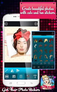 Girls' Hair Photo Stickers - náhled