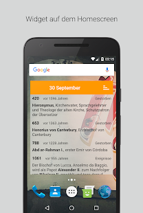 Geschichtskalender - Ereignisse und Quiz Screenshot