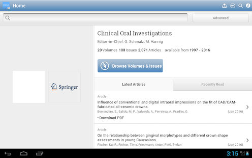 Clinical Oral Investigations- screenshot thumbnail