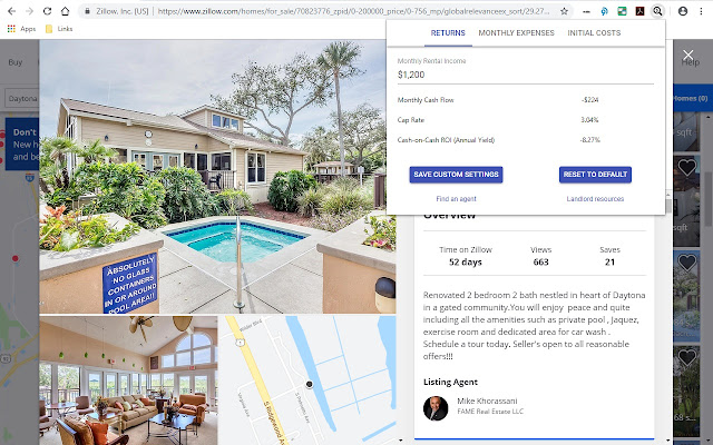 Zillow Real Estate Investment Calculator