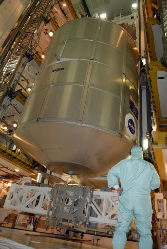 Space shuttle Endeavour's STS-126 mission payload is transferred from the payload canister into the PCR.
