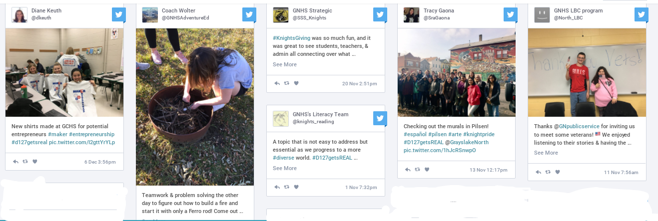 Tweets from the district's hashtag D127GetsREAL
