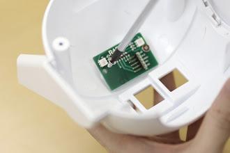 Photo: 後頭部パーツの内側にはLED基板をネジ止めします。銀色の太いネジ(タッピング3mm)を使います。