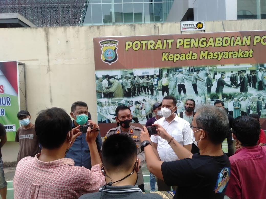 Atensi Intruksi Kapolri , Polsek Medan Timur Tangkap 14 Pelaku Pungli dan Premanisme