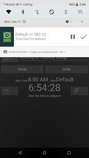 Time Card for Android - náhled