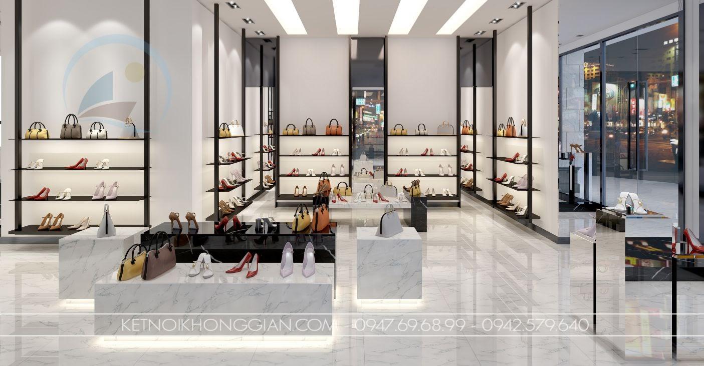 thiết kế cửa hàng giày dép tại hà nội