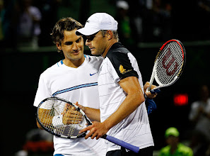 Photo: KEY BISCAYNE, FL - MARCH 26:  Andy Roddick reacts to beating Roger Federer of Switzerland during Day 8 of the Sony Ericsson Open at Crandon Park Tennis Center on March 26, 2012 in Key Biscayne, Florida.  (Photo by Mike Ehrmann/Getty Images)䭀ᵣ