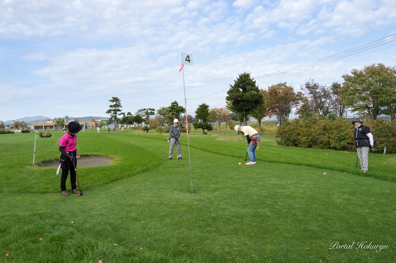 風が気持ちいいパークゴルフ日和