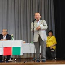 Photo: 英奄美会会長 ご挨拶です。