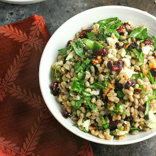 Farro Salad with Spinach, Cranberries, Feta and Balsamic Dressing Recipe