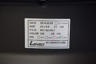 Photo: LENSO RTA 20インチ×9J ET20mm 6H139.7 マットブラック http://www.ac.auone-net.jp/~ever_g/tire/index.html