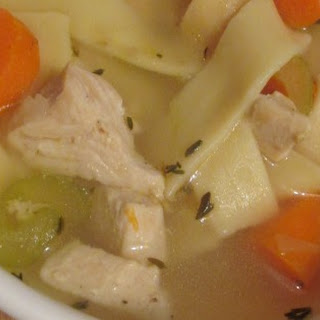 Chicken Noodle Soup in Pressure Cooker.