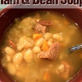 Ham and White Bean Soup - Instant Pot Pressure Cooker.