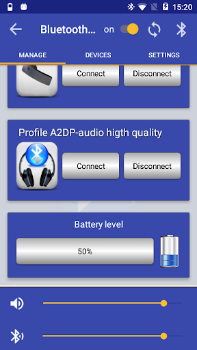 Bluetooth Audio Widget Battery FREE  screenshots 6