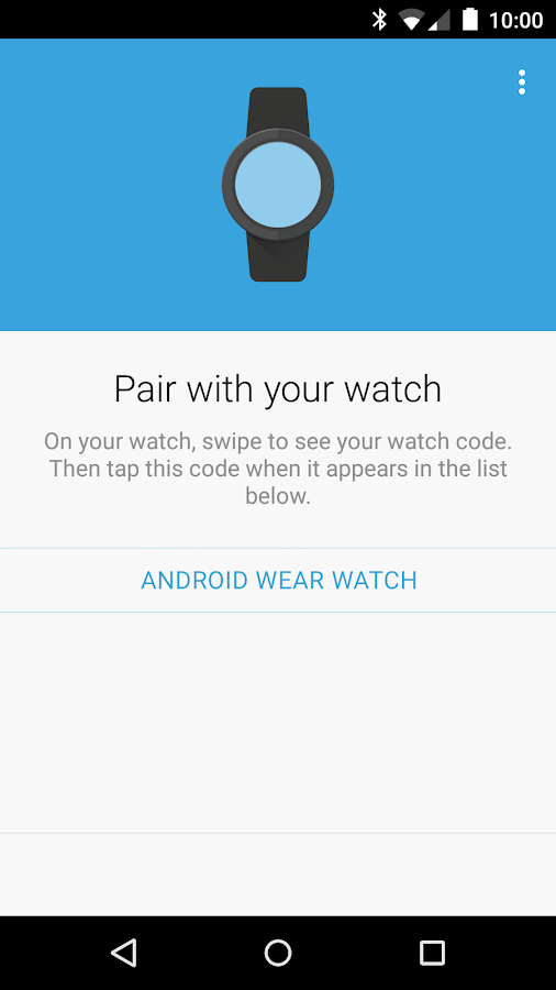 Android Wear- screenshot