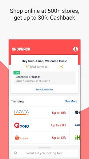 ShopBack | Cashback on Shopping & Restaurants screenshot