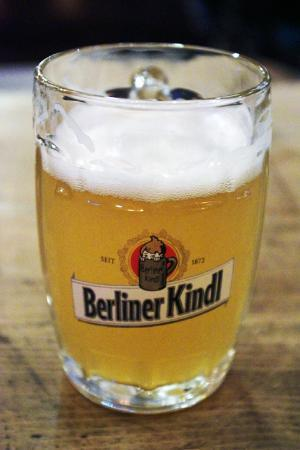 "A glass of ""unfiltered"" Berliner Kindl beer gives a cloudy appearance -  Picture of Berliner-Kindl-Schultheiss-Brauerei, Berlin - Tripadvisor"