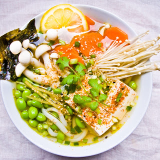 Udon Noodle Bowl w/ Sesame Ginger Broth.