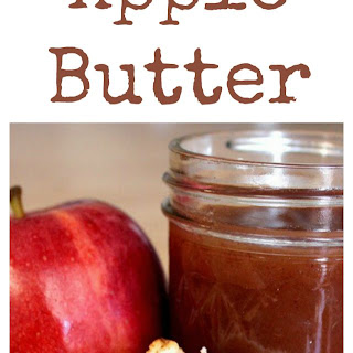 Three Ingredient Slow Cooker Crock Pot Apple Butter.