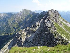 Photo: Berggrat vom Nebelhorn über die Wengenköpfe zum Großen Daumen