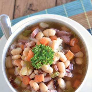 Ham and Bean Crockpot Soup