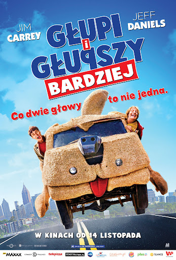 Polski plakat filmu 'Głupi i Głupszy Bardziej'