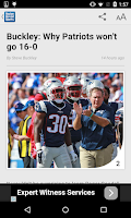 Screenshot of Boston Herald Sports