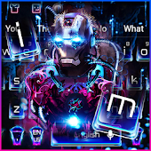 Neon Iron Hero Robot Keyboard Theme Android APK Download Free By Glossy Themes Launcher