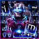 Neon Iron Hero Robot Keyboard Theme