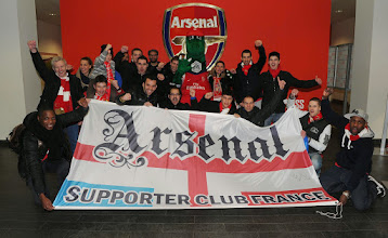 Photo: Arsenal supporters club with Gunner before the match. Arsenal 2:0 Crystal Palace. Barclays Premier League. Emirates Stadium, 2/2/14. Credit : Arsenal Football Club / David Price.