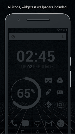 Murdered Out - Black Icon Pack (Pro Version)  screenshots 1