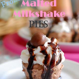 Frozen Malted Milkshake Pies