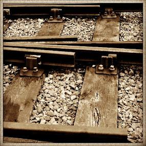 Rails set of 4 #tagstagram #Instacanvas #UK #Yorkshire #track #railway #metal #iron #KWVR #sarahlaurel by Sarah Laurel - Instagram & Mobile Instagram