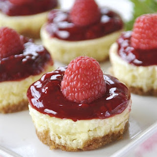Lemon Raspberry Mini Cheesecakes