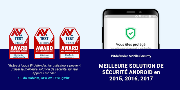 Bitdefender Mobile Security & Antivirus Capture d'écran