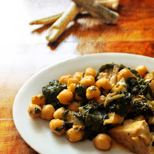 Chickpeas with Spinach and Chicken
