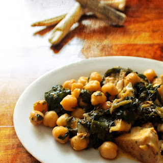 Chickpeas with Spinach and Chicken.