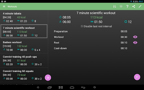 Interval Timer 4 HIIT Workout+- screenshot thumbnail