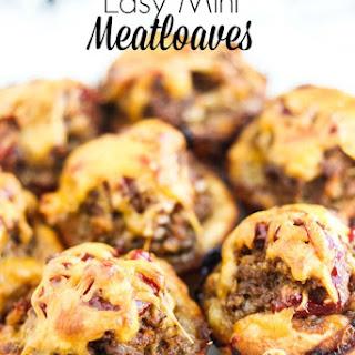 Easy Mini Meatloaves.