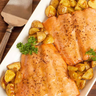 Roasted Honey-mustard Salmon.