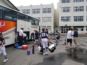 Photo: 折立中学校、到着!