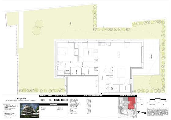 Vente appartement 4 pièces 103,4 m2