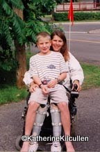 Photo: Summer 2000 - Joey rode on me everywhere.  How I miss his mom. R.I.P. Sue.  Your kids turned out great!