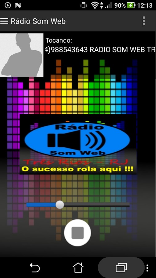 Rádio Som Web- screenshot