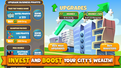 Holyday City Tycoon: Idle Resource Management 5.4 Mod screenshots 4