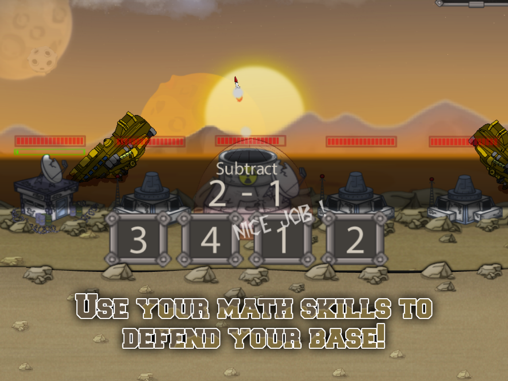 Math Missile- screenshot