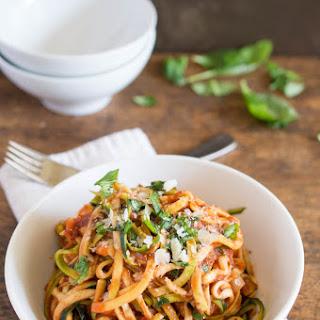 Vegetarian Pasta Sauce Zucchini Recipes