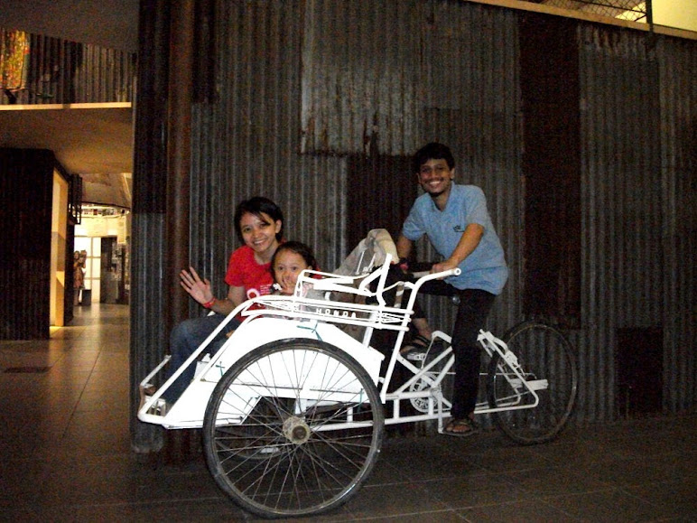 Becak, the most popular and versatile vehicle in Surabaya